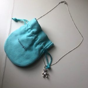 Never worn Tiffany Teddy Bear Charm Necklace